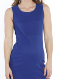 Maternity Sleeveless Fitted Pencil Dress - Cobalt Blue front