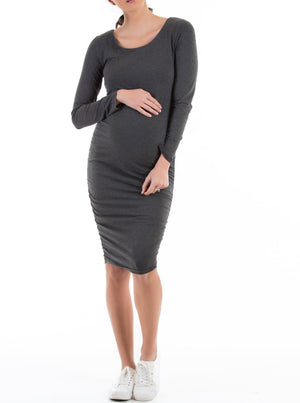 maternity fitted dress