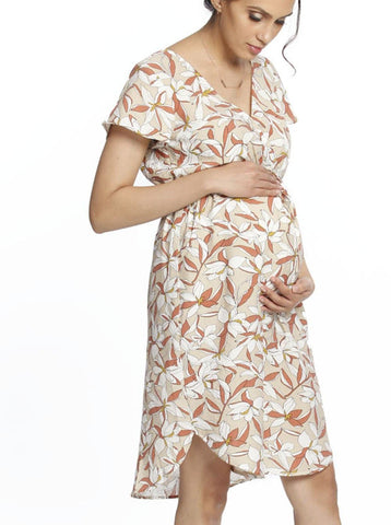 Maxi Busy Mama Nursing Dress - Rustic Flowers