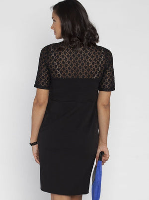 Maternity Lace Party Evening Dress - Black - Angel Maternity - Maternity clothes - shop online