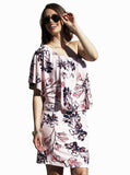 4 Ways Off Shoulder Maternity Dress - Pink Floral - Angel Maternity - Maternity clothes - shop online