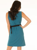 Maternity Reversible Wrap Nursing Dress - Purple/ Teal
