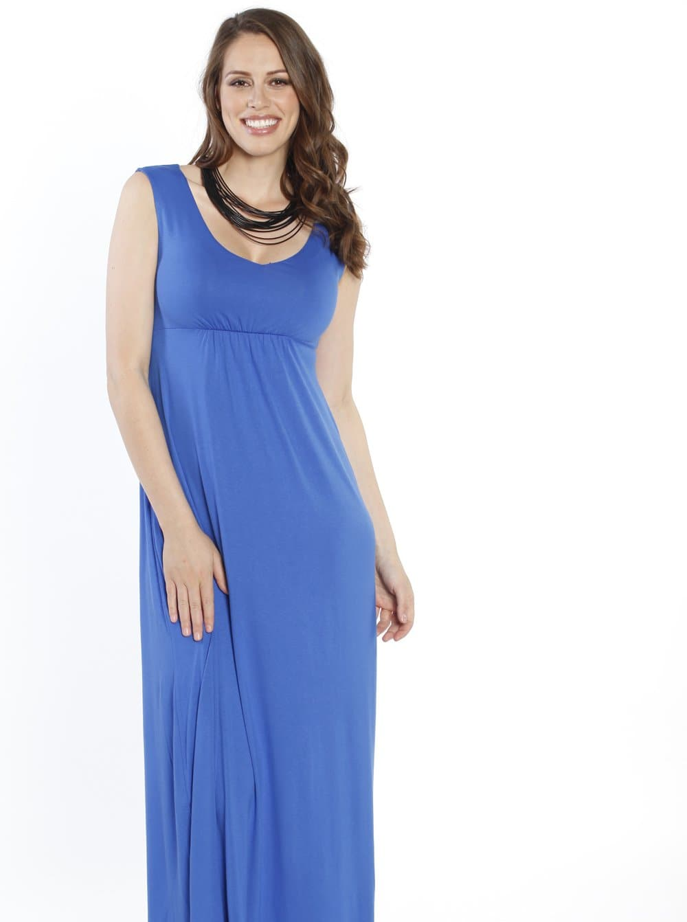 Maternity Ultimate Comfortable Maxi Dress - Blue - Angel Maternity - Maternity clothes - shop online