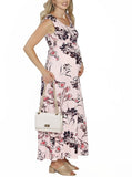Maternity Ultimate Comfortable Maxi Dress - Pink Floral