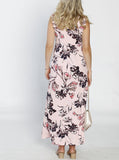Maternity Ultimate Comfortable Maxi Dress - Pink Floral back
