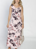 Maternity Ultimate Comfortable Maxi Dress - Pink Floral front