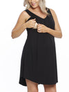 Maternity Swing Dress with Nursing Opening in Black