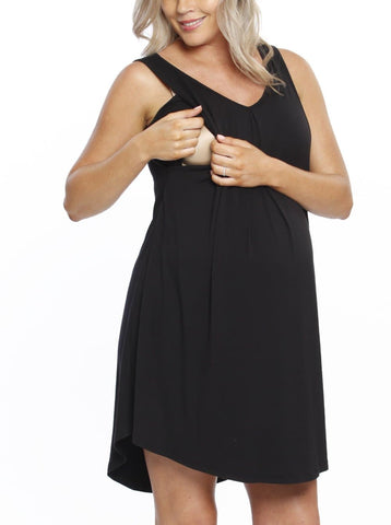 SUE Maternity Evening Dress in Dark Navy