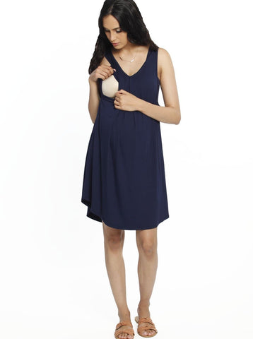 Ruby Joy Bamboo Story Body Hugging Maternity Dress - Black