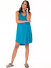 Maternity Swing Dress with Nursing Opening in Blue