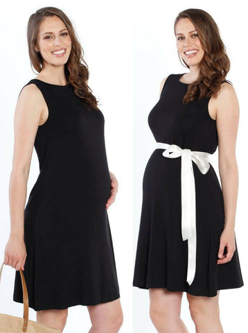 Maternity Formal Party Dress Outfit - Navy