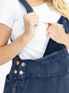 Maternity and Nursing Denim Pinafore nursing