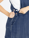 Maternity and Nursing Denim Pinafore nbuttons