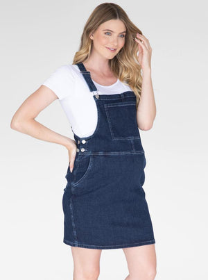Maternity and Nursing Denim Pinafore with Nursing Tee
