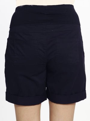 Cotton Maternity New Summer Shorts in Navy