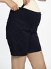 Cotton Maternity Summer Shorts in Navy pregnancy shorts