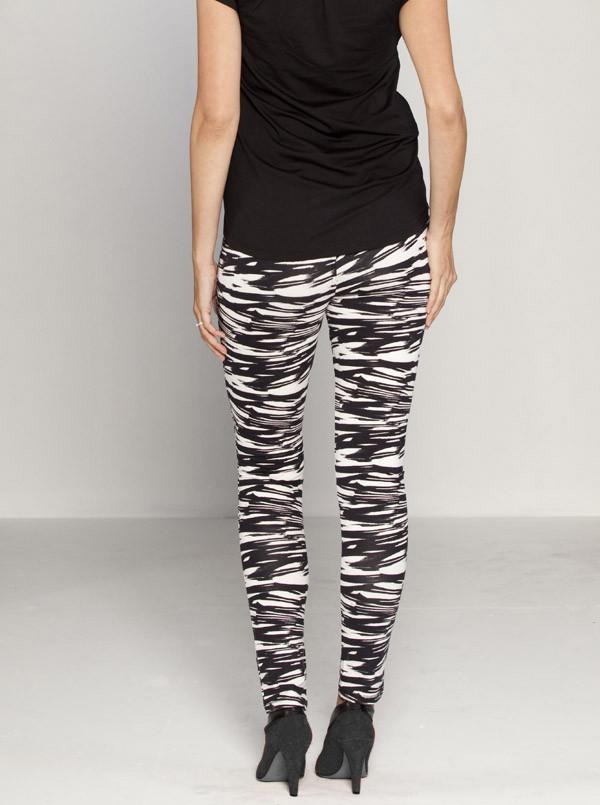 Maternity Cotton Twill Cropped Pants in Zebra Print - Angel Maternity - Maternity clothes - shop online