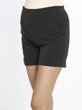 Maternity Soft Ponte Shorts - Black