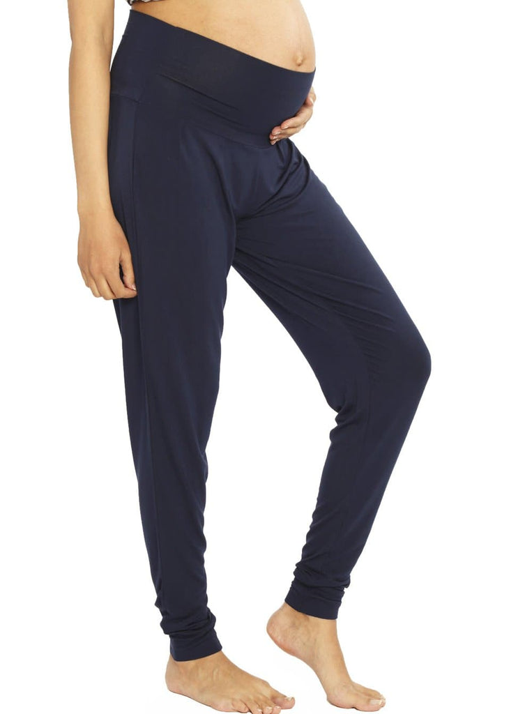 a67a706cab4e0 Comfortable Bamboo Maternity Pants - Navy – Angel Maternity