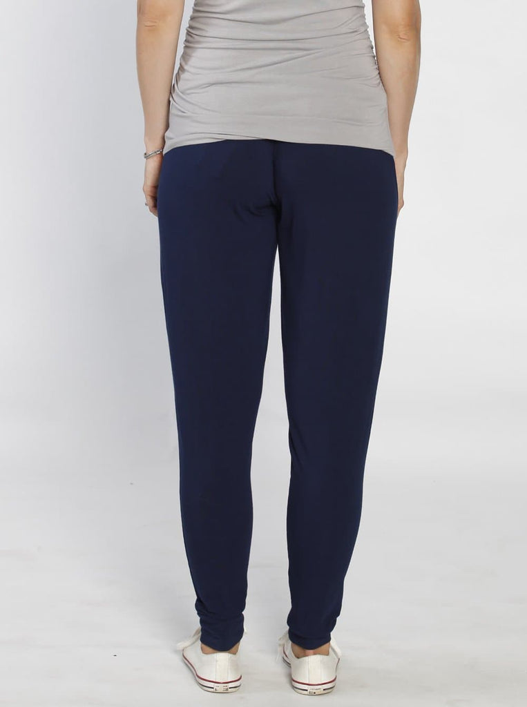 "Ruby Joy ""The Best Seller"" Bamboo Harem Pants - Navy back"