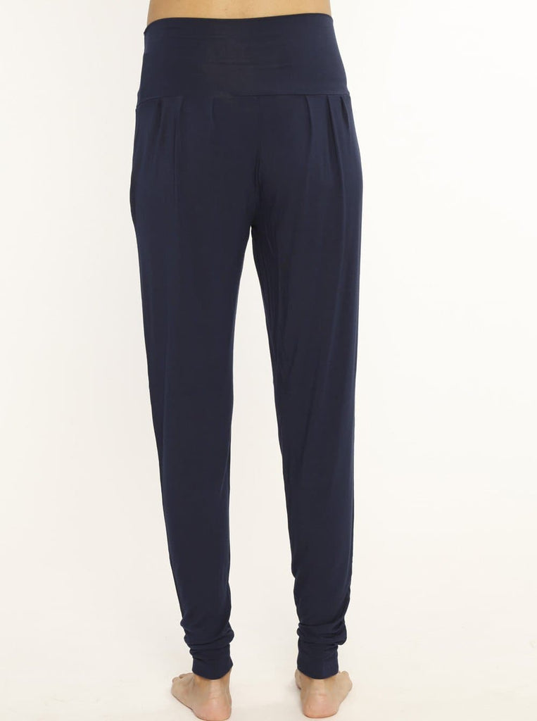 Comfortable Bamboo Maternity Pants - Navy