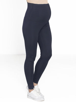 Maternity Deluxe Pull-On Ponti Tight Legging Pants - Navy - Angel Maternity - Maternity clothes - shop online