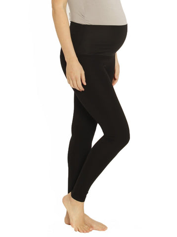 Cotton Maternity Cropped Pants in Black & White