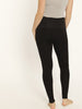 Maternity Foldable Winter Thick Tight Legging - Black