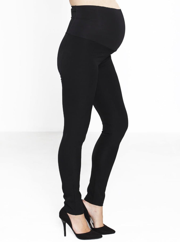 black Maternity fitted  pants