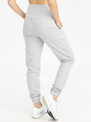 Tracksuit Set in Marl Gray pants back