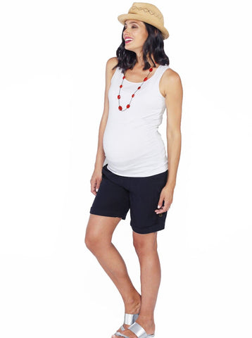 Stretch Solution Top - Black/ White/ Red