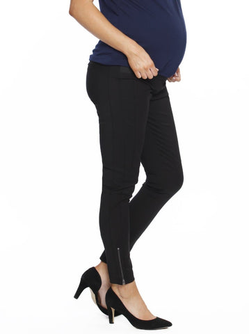 Maternity Deluxe Pull-On Ponti Tight Legging Pants - Navy