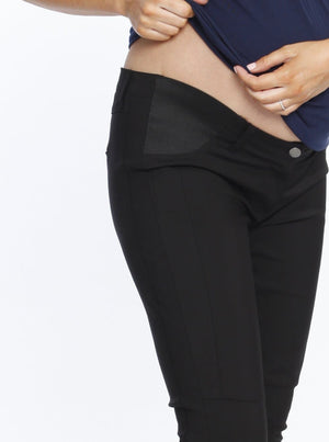 Maternity Fitted Work Pants in Black comfortable pants