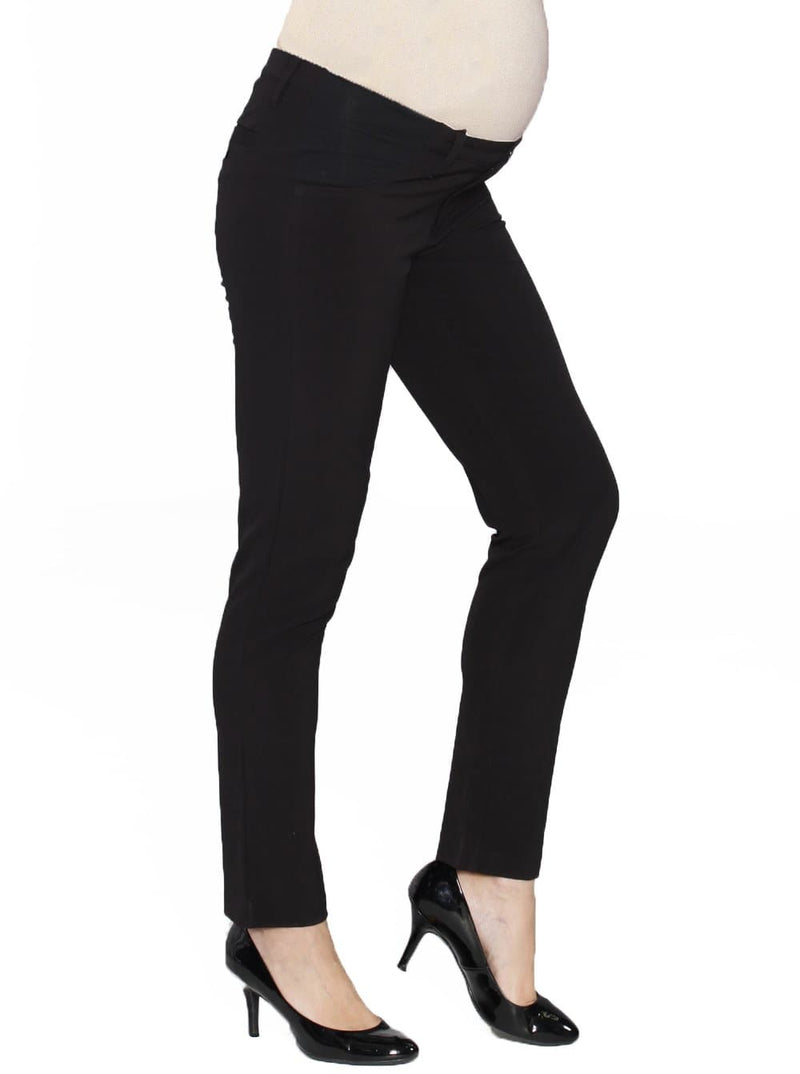 Maternity Pants in Straight Slim Leg - Black - Angel Maternity - Maternity clothes - shop online