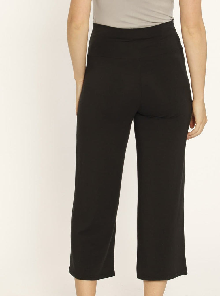 Maternity Wide Leg Bamboo Pants in Dark Charcoal