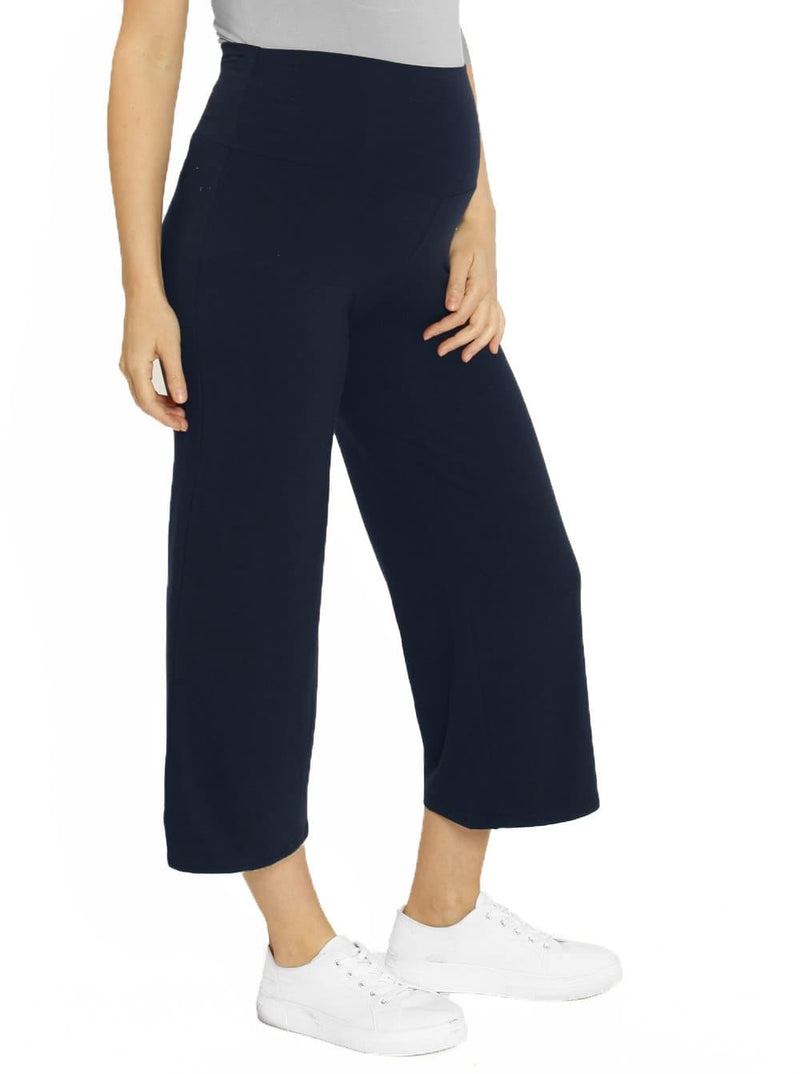 Maternity Wide Leg Bamboo Pants in Navy - online store