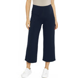 Maternity Wide Leg Bamboo Pants in Navy - pregnancy comfort