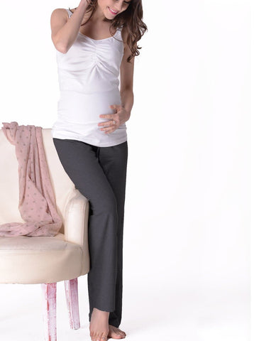 Maternity Comfortable Bamboo Pants - Dusty Blue