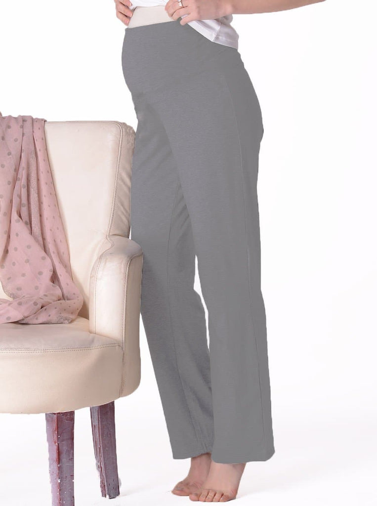 Maternity Stretchy Lounge Pant in Grey - Angel Maternity - Maternity clothes - shop online