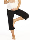 Maternity Cropped Yoga Pant in Plain Black with High Waist - Angel Maternity - Maternity clothes - shop online