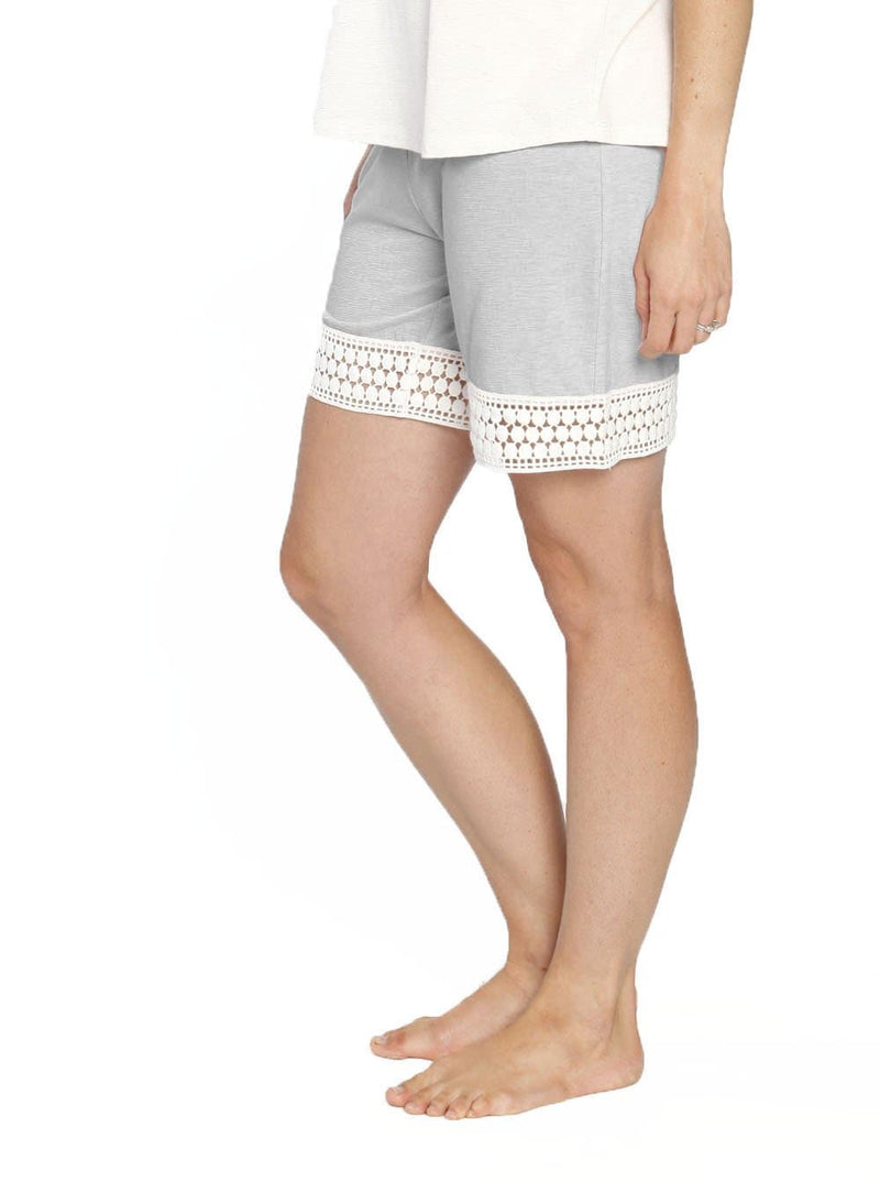 Ruby Joy PJ Sleepwear Mummy Shorts - Grey - Angel Maternity - Maternity clothes - shop online