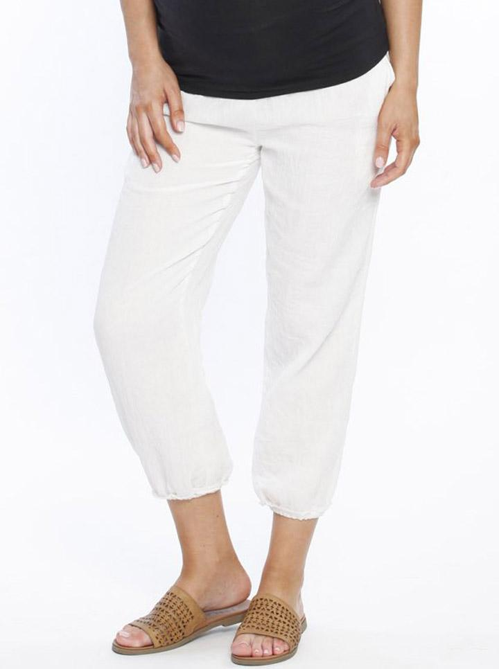 Maternity Comfortable Cotton Relax Pants - White