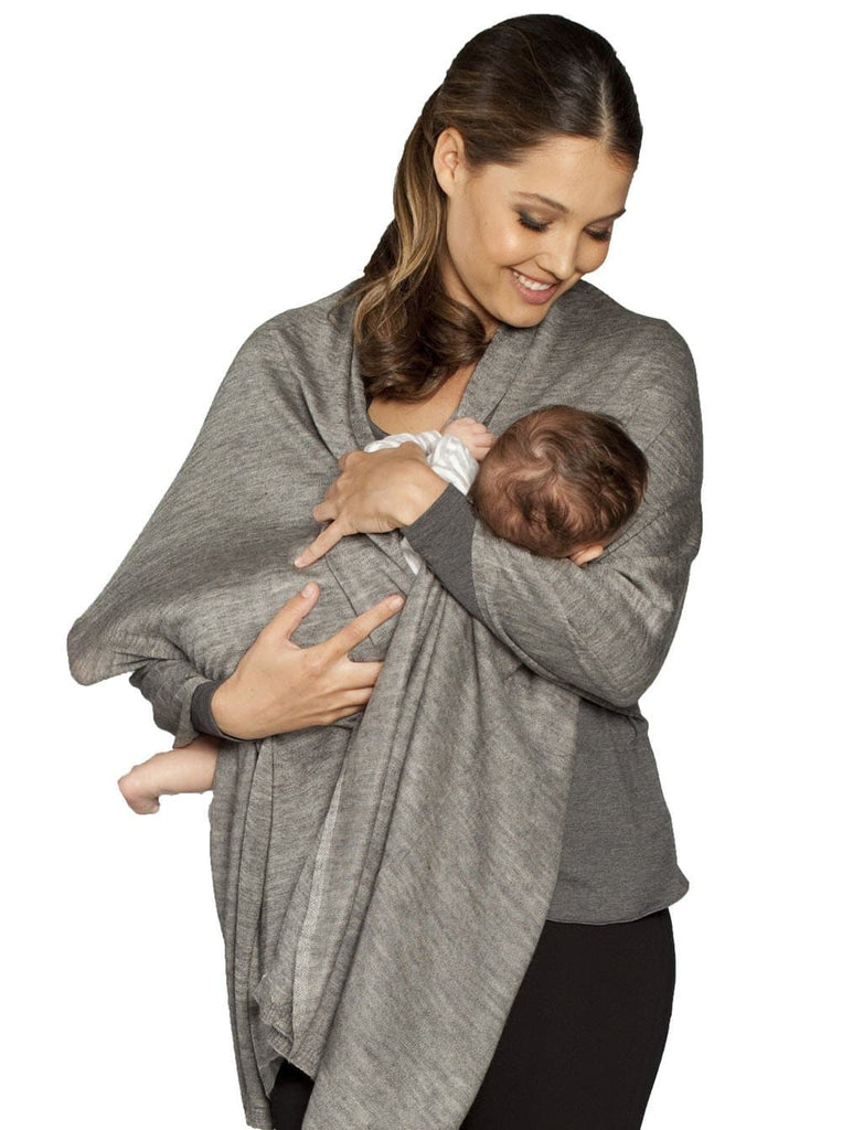 Nursing Angel Versatile Wrap - Taupe/ Grey/  White