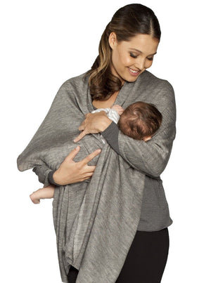 Angel Versatile Nursing Cover - Taupe/Grey/White - Angel Maternity - Maternity clothes - shop online