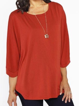 Loose Fit Maternity/Nursing Top - Red