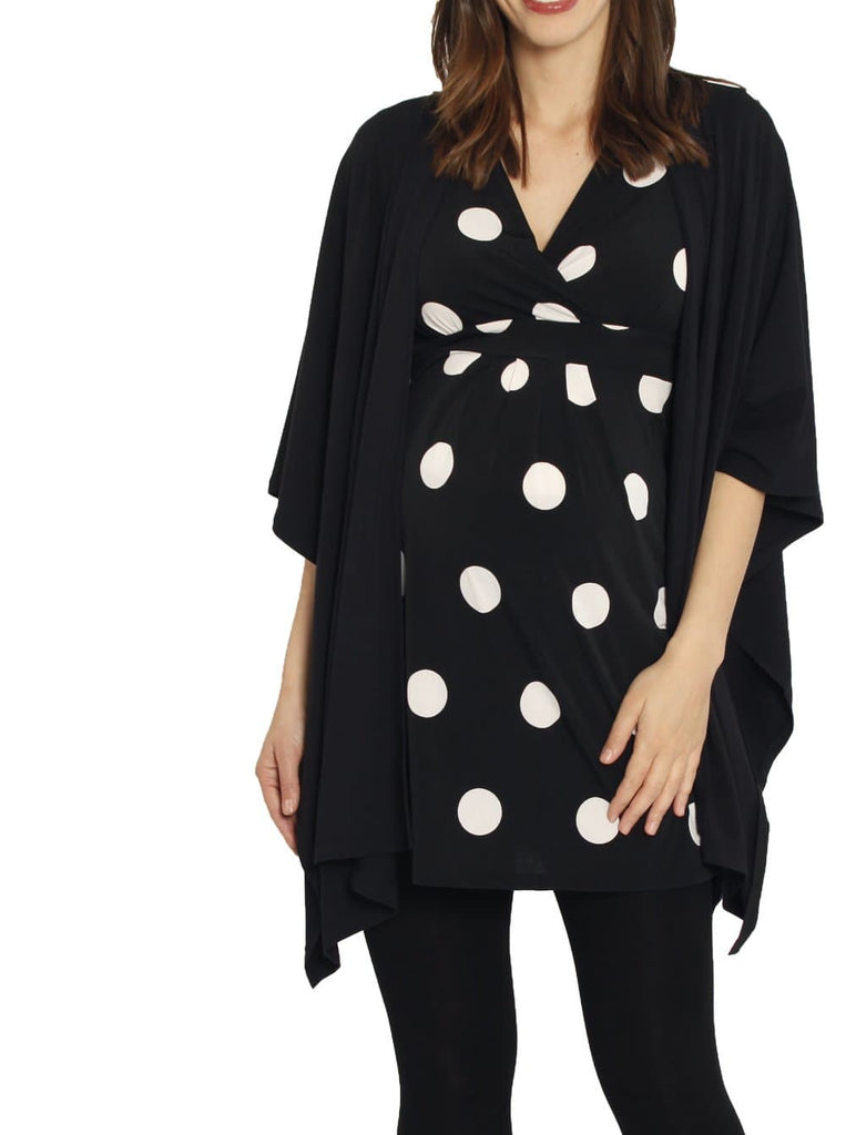 Maternity Long Waterfall Cape in Black Australia online maternity store
