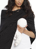 5 Ways Feeding Poncho Cover - Black & White Spots baby feeding cover