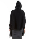 Maternity Wool Blend Winter Cape - Black