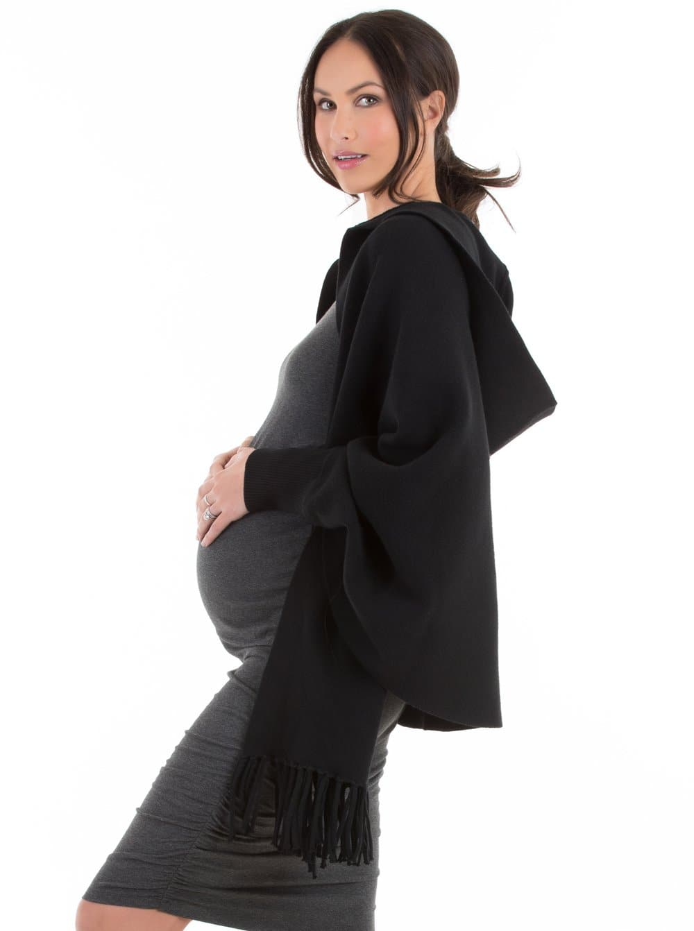 maternity wool cape winter jacket