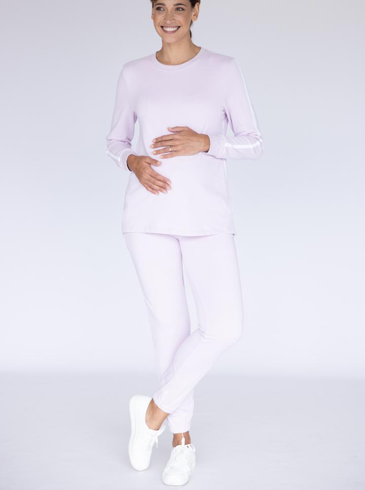 Maternity Tracksuit Set in Lilac